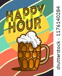 happy hour poster  design with... | Shutterstock .eps vector #1176140284