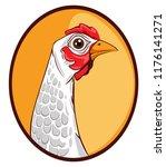chicken icon template vector... | Shutterstock .eps vector #1176141271