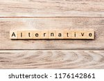 alternative word written on... | Shutterstock . vector #1176142861