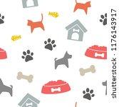 seamless pet background vector | Shutterstock .eps vector #1176143917