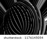 fish eye photo of lath ceiling. ... | Shutterstock . vector #1176145054
