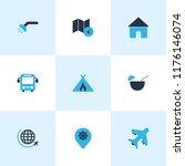 trip icons colored set with bus ... | Shutterstock .eps vector #1176146074
