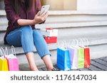 consumerism  shopping ... | Shutterstock . vector #1176147034