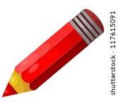 cartoon red pencil. eps10