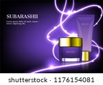 cosmetic ad  container cream... | Shutterstock .eps vector #1176154081