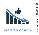 like decrease graphic icon.... | Shutterstock .eps vector #1176159637