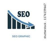 seo decrease graphic icon....
