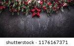 christmas decoration with fir... | Shutterstock . vector #1176167371