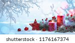 christmas decorations with... | Shutterstock . vector #1176167374