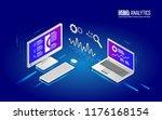 teamwork analytics information... | Shutterstock .eps vector #1176168154
