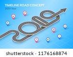 isometric navigation map... | Shutterstock .eps vector #1176168874