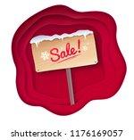 vector cut paper art style... | Shutterstock .eps vector #1176169057
