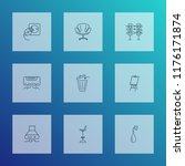 decor icons line style set with ...   Shutterstock .eps vector #1176171874