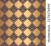 art deco pattern. seamless... | Shutterstock .eps vector #1176176944