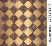 art deco pattern. seamless... | Shutterstock .eps vector #1176176947