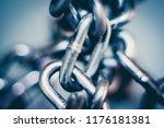 Small photo of metal chain in a bunch