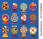 wheels of fortune set. vivid... | Shutterstock .eps vector #1176184834