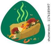 rotten fajita sandwich... | Shutterstock .eps vector #1176185497