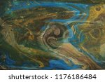 gold and blue marbling texture... | Shutterstock . vector #1176186484