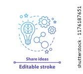 share ideas concept icon. ideas ... | Shutterstock .eps vector #1176187651
