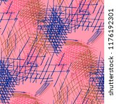 various pen hatches. seamless... | Shutterstock .eps vector #1176192301