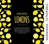 lemon frame vector illustration.... | Shutterstock .eps vector #1176192811