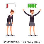 girl is discharged and charged... | Shutterstock .eps vector #1176194017