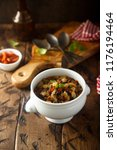 homemade soup with beans   Shutterstock . vector #1176194464