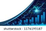 stock market or forex trading... | Shutterstock . vector #1176195187