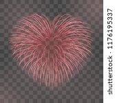 beautiful heart firework. red... | Shutterstock .eps vector #1176195337