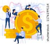 flat design vector  business... | Shutterstock .eps vector #1176199114