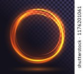 ring of yellow flame  fiery ... | Shutterstock .eps vector #1176201061