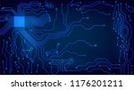 background with glowing... | Shutterstock .eps vector #1176201211