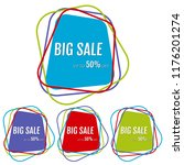 set of four big sale stickers... | Shutterstock . vector #1176201274