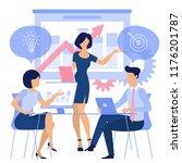 flat design business and... | Shutterstock .eps vector #1176201787
