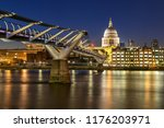 st paul cathedral with... | Shutterstock . vector #1176203971