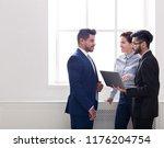 business colleagues having... | Shutterstock . vector #1176204754