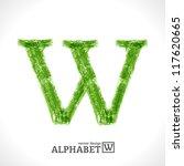grunge vector letter. green eco ... | Shutterstock .eps vector #117620665