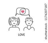 icon love  logo dating site ... | Shutterstock .eps vector #1176207187