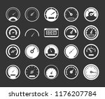 dashboard icon set white... | Shutterstock . vector #1176207784