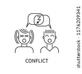 conflict icon  man and woman... | Shutterstock .eps vector #1176209341