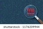 virus detected. scanning and... | Shutterstock .eps vector #1176209944