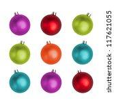multi colored christmas balls... | Shutterstock . vector #117621055
