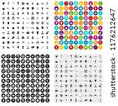 100 healthy person icons set in ... | Shutterstock . vector #1176212647