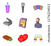 great affection icons set.... | Shutterstock . vector #1176224011