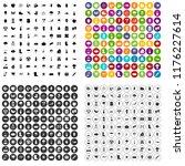 100 garden stuff icons set in 4 ... | Shutterstock . vector #1176227614