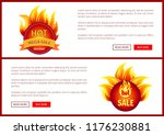 mega sale burning labels with... | Shutterstock .eps vector #1176230881
