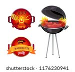 bbq party barbecue isolated... | Shutterstock .eps vector #1176230941