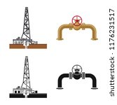 vector illustration of oil and... | Shutterstock .eps vector #1176231517