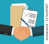 contract terms and conditions... | Shutterstock .eps vector #1176239407